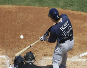Luke Scott's Back - AP Photo