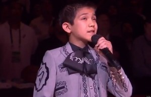 11 year old Sebastian De La Cruz was at the center of a firestorm on Twitter after singing the National Anthem before game 3 of the NBA Finals. (Photo: Facebook)