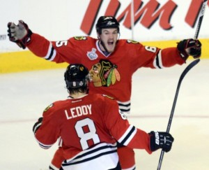 Chicago looks to go up 2-0 against Boston in the Stanley Cup Finals Saturday night on NBC Sports Network (Photo: Jeff Michaels AP)