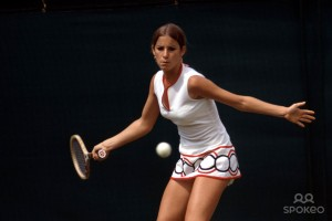 Chris Evert back in 1973 getting ready for the U.S. Open.