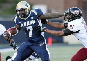 Akron's Jawon Chishom is coming into his third year as a starter