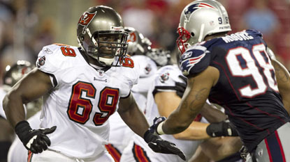 Demar Dotson's NFL career began as a member of the Bucs' practice squad