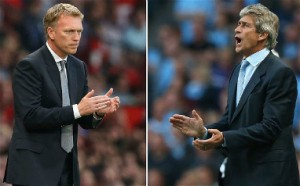 David Moyes and Manuel Pellegrini will get their first taste of the Manchester derby