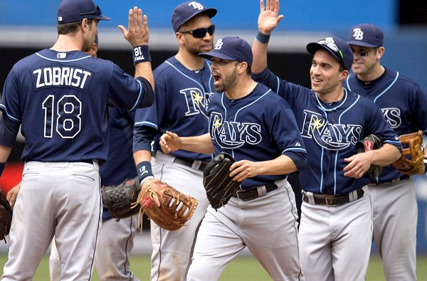 James Loney; Matt Joyce; Sam Fuld; Ben Zobrist; Evan Longoria