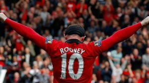 Rooney celebrated his return from head injury with a goal