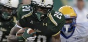 USF running back Marcus Shaw is averaging over 130 yards per game.