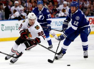 The Bolts never gave up and they beat the defending Stanley Cup Champion Hawks 6-5.