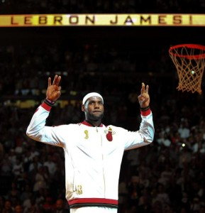 LeBron James and the Heat look like defending NBA Champion's in their opener last night/