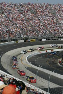 The half mile track that is called the Paper Clip. Lots of trading paint at Martinsville.