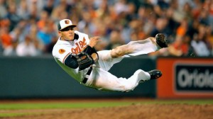 The Orioles third baseman Manny Machado was one of three Orioles to pick up a Gold Glove last night.