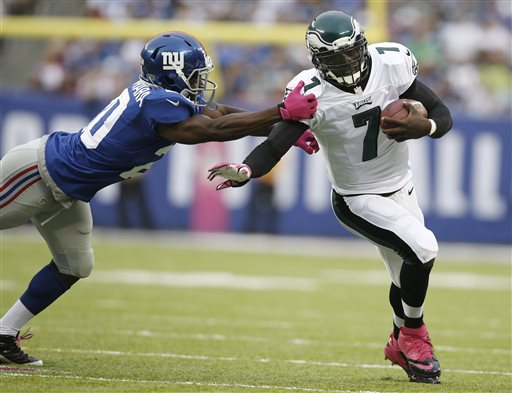 Philadelphia Eagles QB Michael Vick vs the Giants