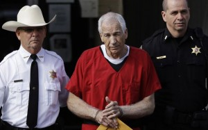 Jerry Sandusky still maintains that he is innocent . He is serving his sentence  30 to 60 years in prison.