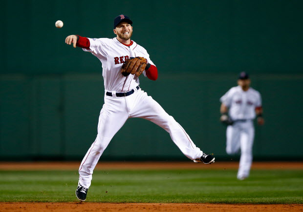 Stephen Drew makes a play for Boston. But the night belonged to the Cardinals.