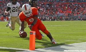 Duke Johnson scores twice as the Canes beat Wake.