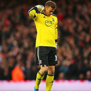 Artur Boruc's horrendous mistake gifted Arsenal the lead.