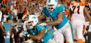 Dolphins upset Bengals on a safety caused by DE Cameron Wake.