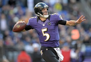 Joe Flacco is in a must win possition Thusday night.