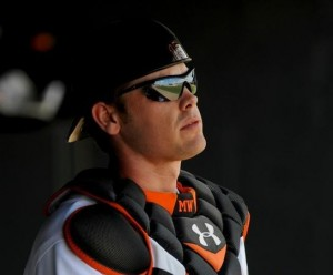 The Orioles Gold Glove catcher Matt Wieters could be on the trading block.
