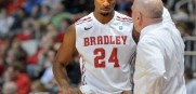 Bradley lost a rare home game to USF last night in Peoria.