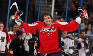Capitals' Alex Ovechkin always seems to enjoy playing his former rivals from Tampa Bay