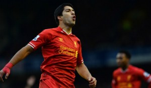 Luis Suarez has scored 11 goals in his last four games against Norwich.