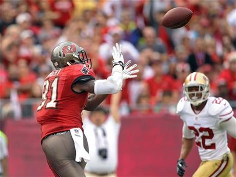 Bucs WR Tim Wright vs the 49ers