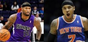 Carmelo Anthony and DeMarcus Cousins