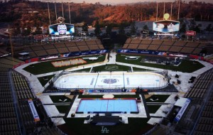 Dodger Stadium ready to host the Ducks and the Kings Saturday night