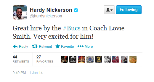 Hardy Nickerson endorses Lovie