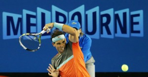 Rafa Nadal of Spain defeats Roger Federer of Switzerland moving closer to the 2014 Australian Open title