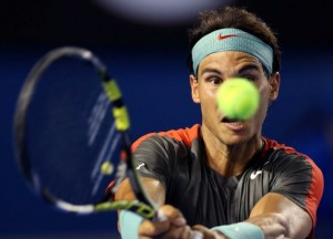 Rafa Nadal was on his game despite temps well over 100 degrees in Melbourne