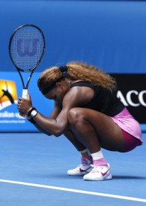 Serena Williams is out of the 2014 Australian  Open.