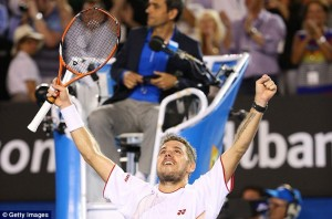 Stanislas Wawrinka wins his first major at the Aussie Open