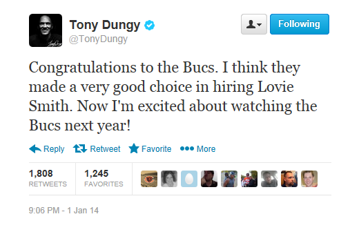 Tony Dungy endorses Lovie Smith