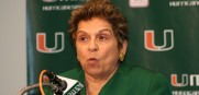 University of Miami president Donna Shalala wants Al Golden to stay but will not get into a bidding war to keep him.