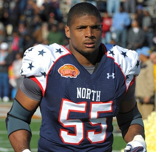 NFL draft prospect Michael Sam