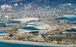 A view of the Sochi Olympic Park as the 2014 Winter Olympics get underway