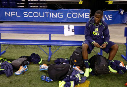 Bridgewater at NFL Combine