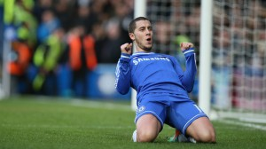 Chelsea's Eden Hazard had a hat trick helping his team reach the top of the Premier League table.