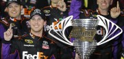 Joe Gibbs Racing Danny Hamlin wins exhibition Sprint Unlimited at Daytona Saturday night.