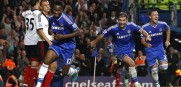 Mikel Obi of Chelsea celebrates after scoring against Fulham during the EPL match at Stamford Bridge. This time Chelsea is on the road hoping for a win.