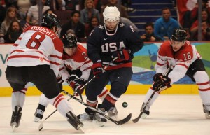 The battle of team USA and team Canada is the showcase game of the Olympics. Today at 11:30am