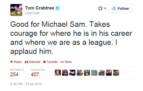 Tom Crabtree Tweet