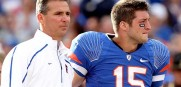 Urban Meyer and Tim Tebow