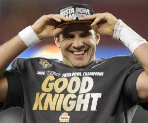 Blake Bortles has plenty to smile about. He could be the top pick in the NFL Draft