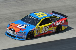 Carl Edwards wins the rain delayed Sprint Cup race at Bristol