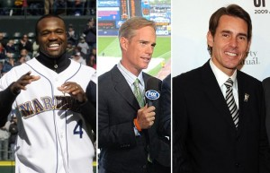 Harold Reynolds (l.) and Tom Verducci (r.) will join Joe Buck in doing the MLB on FOX