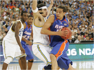 Most Outstanding Player Joakim Noah Led The 2005-06 Florida Gators To An Upset Over The UCLA Bruins For The NCAA Championship