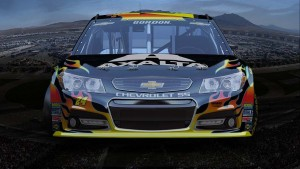 This week in Las Vegas the NASCAR teams will feature cars with new paint colors.