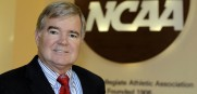 NCAA President  Mark Emmert is taking a wait and see stance of the paying of players in college,